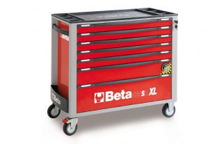 Beta C24SAXL/7-R Mobile Roller Cab With 7 Drawers (Red)